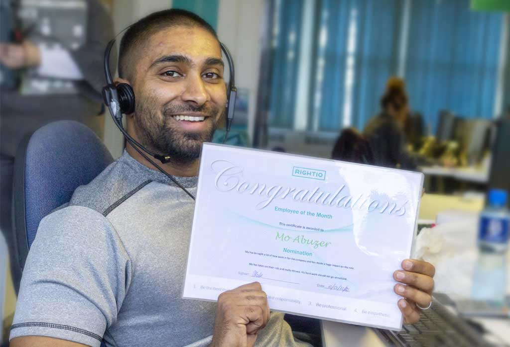 december employee of the month in Nottingham
