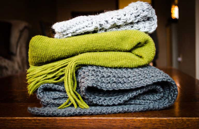 Blankets to keep you warm when the central heating