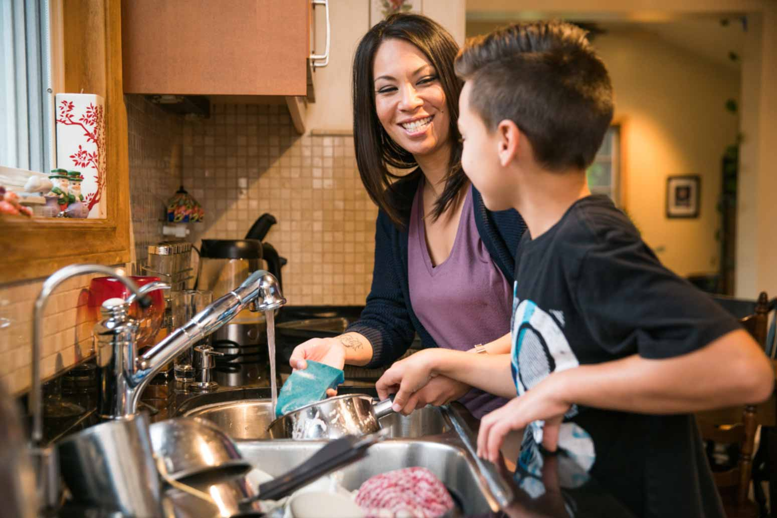Teach kids to help with chores and housework
